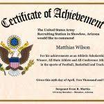 Military Certificate Templates military certificate templates military certificate templates army 45