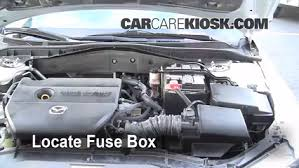 replace a fuse 2003 2008 mazda 6 2006 mazda 6 i 2 3l 4 cyl car fuse box replacement at Fuse Box Engine