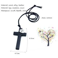 wood cross necklaces whole