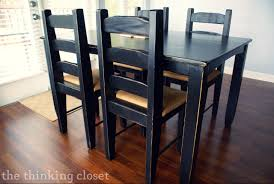 Distressed Kitchen Furniture Black Distressed Table Makeover The Thinking Closet