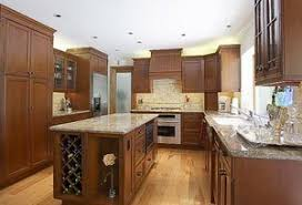 Kitchen Island with End Wine Rack