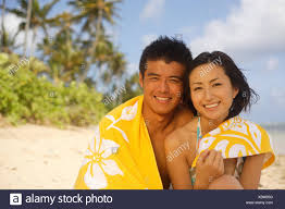 Japanese couple on vacaation