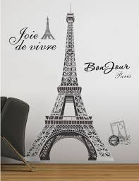 eiffel tower wall stickers 55 inches tall by roommates