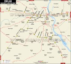 Indian Railway Route Chart Delhi Railway Map