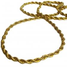gold plated 36 length 6mm thick rope hiphop bling chain