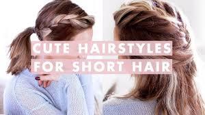 3 Easy Hairstyles For Shortmedium Length Hair Youtube