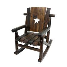 log rocking chair rustic