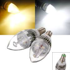 e14 9w white warm white 3 led chandelier candle light bulb 85 265v