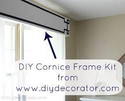 Diy Wood Cornice New Window Treatments Diy Cornice Frame Kit Review Erin Spain