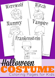 halloween costumes coloring pages printable halloween costume coloring pages for kids from abcs to acts