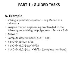 solve quadratic equations using matlab tessshlo
