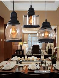 Living Room Pendant Lighting Vintage Fixture Pendant Light Ceiling Lighting Chandelier 3 Lamps
