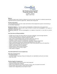 Awesome Collection Of Resume For Assembly Line Worker About