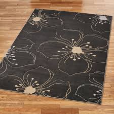 picturesque fl rectangle rug dark gray