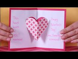 Valentines Day Heart Pop Up Card Youtube