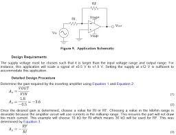 op amp inverting amplifier gain calculation