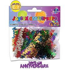 Sachet de confettis de table Joyeux anniversaire - 12 x 10 cm ...