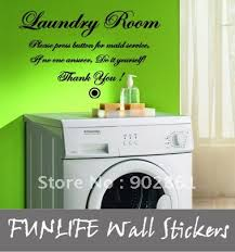funlife 10pcs 34x60cm Laundry Room Do it Yourself Vinyl Home Wall Quotes Lettering Decals