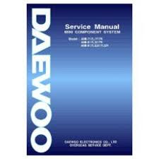 ami for ioffer daewoo ami817r audio service manual by 85485