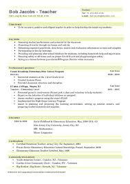 Elementary Teacher Resume Unique 28 Preschool Teacher Resume Examples Free Resume