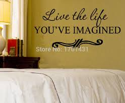 live the life you ve imagined home decoration wall art decals living room decorative stickers murals in wall stickers from home garden on aliexpress  on live the life you imagined wall art with live the life you ve imagined home decoration wall art decals living