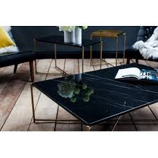 black marble low console media table with brass cross base