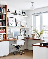 workspace furniture office interior corner office desk. Condo Tour: Chic Home Office {PHOTO: Stacey Brandford}. Good Option For Our Space Workspace Furniture Interior Corner Desk