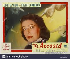 the accused paramount pictures film loretta young stock stock photo the accused 1949 paramount pictures film loretta young