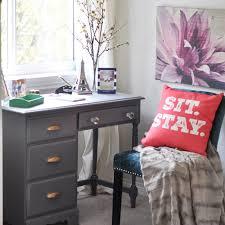 desk in bedroom. Interesting Bedroom A Painted Writing Desk In The Master Bedroom13 With In Bedroom