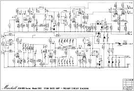 marshall schematics pre amp schematic 2x ecc81 3x ecc83 issue 1 marshall 1981