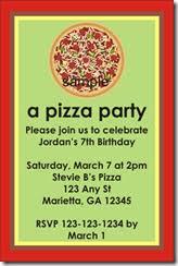 Pizza Party Invitation Templates Pizza Party Invitation Archives