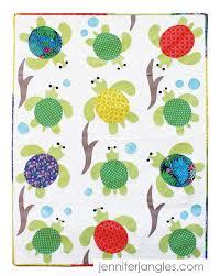 Turtle Pattern Gorgeous Sea Turtle Friends Applique Quilt Paper Pattern Jennifer Jangles