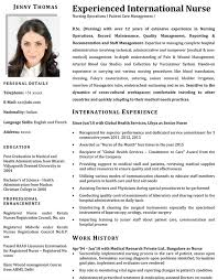 Resume Format For Nurses Mesmerizing Nurse CV Format Nurse Resume Sample And Template