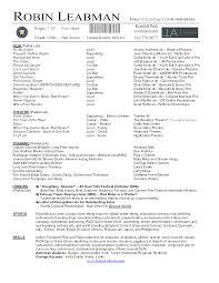 Theatre Resume Template Word Jospar