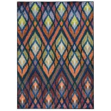 andover orange blue area rug universe prismatic geometric and by oriental weavers ow
