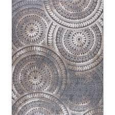 spiral medallion cool gray 5 ft x 7 ft tones area rug