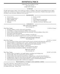Babysitting Resume Template Mesmerizing Resume Nanny Sample Resumes Housekeeping From Template Us How Write