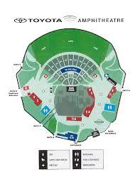 71 Eye Catching Toyota Amphitheatre Seating Chart
