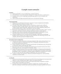 Sample Summary Statement Resume Summary Statement Resume Examples Summary For Resume Sample