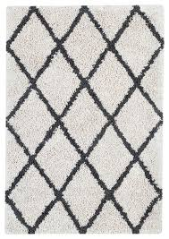 franklin silky area rug with diamond pattern ivory and gray