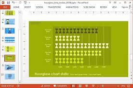 Hourglass Chart Excel Animated Hour Glass Time Tracker Powerpoint Template
