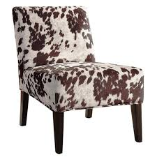 image of beaumont cowhide accent chair