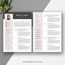 Modern 2020 Resume Word Modern Resume Templates With Cover Letter