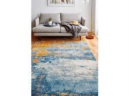 bashian rugs everek blue orange grey rectangular area rug e110 multi 5472a