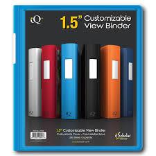 1 5 Binder Iq 1 5 Inch Plastic Heavyduty Binder 34105