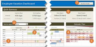 Vacation And Sick Time Tracking Excel Template Employee Vacation Tracker Dashboard Using Ms Excel