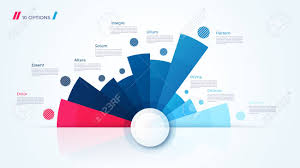 Modern Chart Design Vector Circle Chart Design Modern Template For Creating Infographics