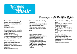 Passenger Little Lights Lyrics Passenger All The Little Lights Lyrics Music Text Me