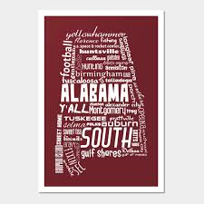 1926826 1 on alabama state wall art with alabama state pride word cloud white alabama wall art teepublic