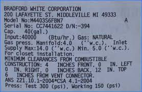 Us Craftmaster Water Heater Age Chart Find Age Of Heater Washington Water Heater